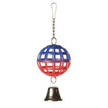 """Trixie / Игрушка Трикси для птиц """"Пластиковый шарик с колокольчиком"""""""