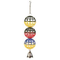 """Trixie / Игрушка Трикси для птиц """"3 пластиковых шарика с колокольчиком"""""""