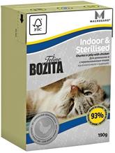 Bozita Feline Funktion Indoor & Sterilised / Влажный корм Бозита для Стерилизованых и домашних кошек кусочки в желе Курица (цена за упаковку)