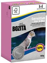 Bozita Feline Funktion Sensitive Hair & Skin / Влажный корм Бозита для кошек с Чувствительной кожей и шерстью кусочки в желе Лосось (цена за упаковку)