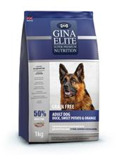 Заказать Gina Dog Elite GF Adult / Сухой Беззерновой корм для взрослых собак Утка Батат Апельсин по цене 3970 руб
