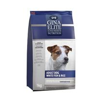 Gina Dog Elite Adult White Fish & Rice / Сухой корм Джина для взрослых собак с Белой рыбой и рисом