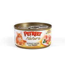 Petreet / Консервы Петрит для кошек Кусочки розового тунца с Картофелем (цена за упаковку)