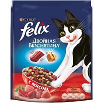 Felix Двойная вкуснятина / Сухой корм Феликс для кошек с Мясом