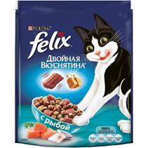 Felix Двойная вкуснятина / Сухой корм Феликс для кошек с Рыбой