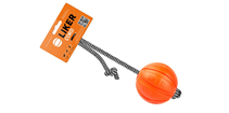 Liker Cord 5 / Мячик Лайкер на шнуре 30 см для собак Мелких пород Оранжевый