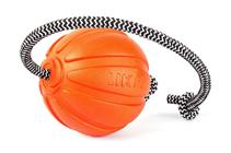 Liker Cord 9 / Мячик Лайкер на шнуре 30 см для собак Крупных пород Оранжевый