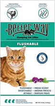 Better Way Fresh Scent / Комкующийся наполнитель Бэтер Вэй для кошачьего туалета Бентонит Свежесть