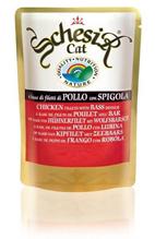 Schesir Паучи для Кошек Цыпленок / окунь (цена за упаковку)