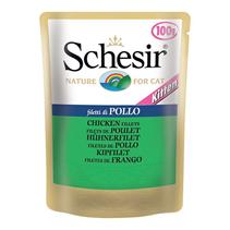 Schesir / Паучи для Котят Филе цыпленка (цена за упаковку)