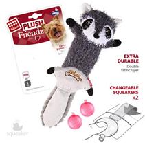 GiGwi Dog Plush Friendz / Игрушка Гигви для собак Енот с 2-мя пищалками Суперпрочная