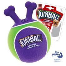 GiGwi Dog Jumball / Игрушка Гигви для собак Мяч с захватом Теннисный материал Зелено-фиолетовый
