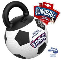 GiGwi Dog Jumball / Игрушка Гигви для собак Мяч с захватом Резиновый Черно-белый