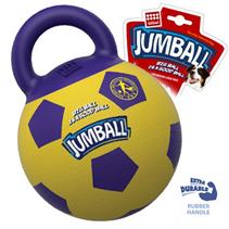 GiGwi Dog Jumball / Игрушка Гигви для собак Мяч с захватом Резиновый Желто-фиолетовый