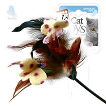 GiGwi Cat Toys / Игрушка Гигви для кошек Дразнилка на стеке с Бабочками