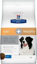 Hills Prescription Diet Canine k / d + Mobility / Лечебный корм Хиллс k/d для собак Заболевание почек + Суставы