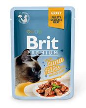 Brit Premium Gravy Tuna fillets / Паучи Брит Премиум для кошек Кусочки из филе Тунца в соусе (цена за упаковку)