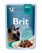 Brit Premium Gravy Beef fillets / Паучи Брит Премиум для кошек Кусочки из филе Говядины в соусе (цена за упаковку)