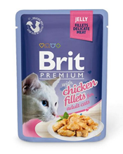 Brit Premium Jelly Chiсken fillets / Паучи Брит Премиум для кошек Кусочки из Куриного филе в желе (цена за упаковку)