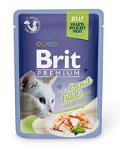 Brit Premium Jelly Trout fillets / Паучи Брит Премиум для кошек Кусочки из филе Форели в желе (цена за упаковку)