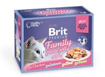 Brit Premium Family Plate Jelly / Набор паучей Брит Премиум для кошек Семейная тарелка кусочки в желе (цена за упаковку)