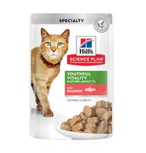 Hills Science Plan Senior Vitality Mature Adult Salmon / Паучи Хиллс для Пожилых кошек Лосось (цена за упаковку)