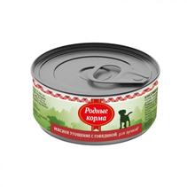 Родные Корма / Консервы Мясное угощение для Щенков с Говядиной (цена за упаковку)