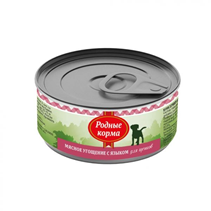 Родные Корма / Консервы Мясное угощение для Щенков с Языком (цена за упаковку)