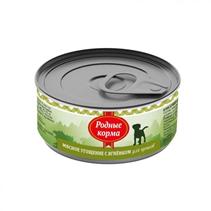 Родные Корма / Консервы Мясное угощение для Щенков с Ягненком (цена за упаковку)
