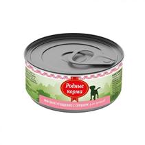 Родные Корма / Консервы Мясное угощение для Щенков с Сердцем (цена за упаковку)