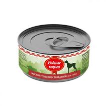 Родные Корма / Консервы Мясное угощение для собак с Говядиной (цена за упаковку)