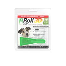 Rolf Club 3D / Капли Рольф Клуб от Клещей и Блох для собак весом 4-10 кг