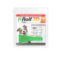 Rolf Club 3D / Капли Рольф Клуб от Клещей и Блох для собак весом 10-20 кг