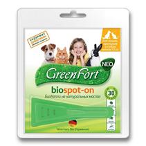 Green Fort Neo Biospot-on / БиоКапли Грин Форт Нео от Блох Клещей и Комаров для Кошек Кроликов и Собак до 10кг