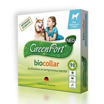 Green Fort Neo Biocollar / БиоОшейник Грин Форт Нео от Эктопаразитов для Крупных собак