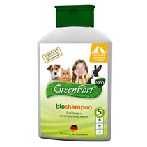 Green Fort Neo Bioshampoo / БиоШампунь Грин Форт Нео Репеллентный для Кошек Кроликов и Собак