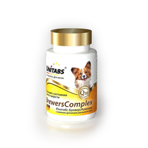 Заказать Unitabs BreversComplex / с Q10 Витаминно-минеральный комплекс для Мелких собак с Пивными дрожжами по цене 210 руб