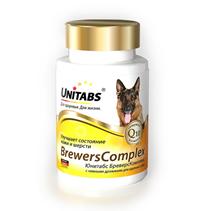 Unitabs BreversComplex с Q10 / Витаминно-минеральный комплекс Юнитабс для Крупных собак с Пивными дрожжами