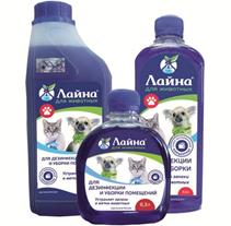 Лайна для животных / Средство для дезинфекции и уборки помещений Устраняет запахи и метки животных