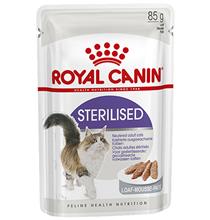 Royal Canin Sterilised Mousse Pate / Паучи Роял Канин Стерилайзд для взрослых кастрированных котов и Стерилизованных кошек Паштет (цена за упаковку)