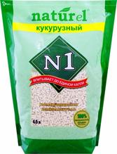 Наполнитель №1 Naturel Кукурузный Комкующийся