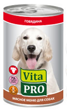 Vita Pro / Консервы Вита Про для собак от 1 года Говядина (цена за упаковку)