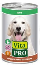 Заказать Vita Pro / Консервы для собак от 1 года Дичь Цена за упаковку по цене 690 руб