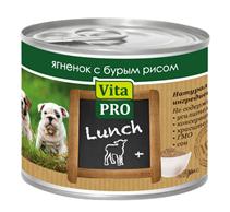 Vita Pro Lunch / Консервы Вита Про для Щенков Ягненок Бурый рис (цена за упаковку)