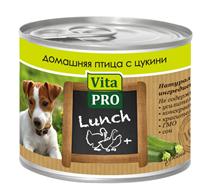 Vita Pro Lunch / Консервы Вита Про для собак Домашняя птица Цукини (цена за упаковку)