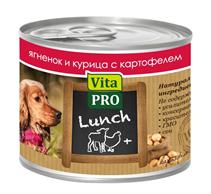 Заказать Vita Pro Lunch / Консервы для собак Ягненок Курица Картофель  Цена за упаковку по цене 650 руб