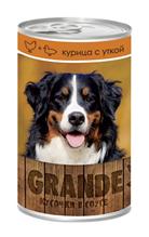 Vita Pro Grande / Консервы Вита Про для собак Курица Утка кусочки в Соусе (цена за упаковку)