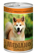Vita Pro Mediano / Консервы Вита Про для собак Говядина Индейка кусочки в Соусе (цена за упаковку)