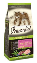 Primordial Kitten Grain Free Holistic / Сухой корм Примордиал Беззерновой для Котят Утка Индейка