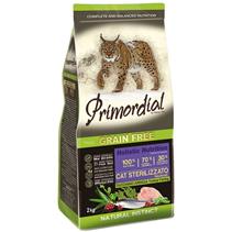 Primordial Sterilised Grain Free Holistic / Сухой корм Примордиал Беззерновой для Стерилизованных кошек Индейка Сельдь